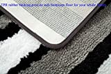 HEBE Non-Slip Microfiber Bath Rug Mat and Runner