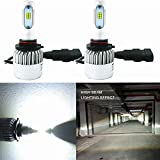 Alla Lighting New CSP Xtremely Bright LED Headlight Bulbs w/ High Power 8000Lm 6500K White Lamps (9005 HB3)
