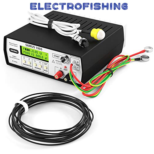 S1000 12V Fish Shocker Stunner, Freshwater Electro Fisher, Professional Fishing Equipment with Catfish and carp Mode, Inverter