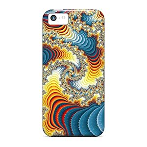 Fashion Protective Psychedelic Art Spiral Case Cover For Iphone 5c