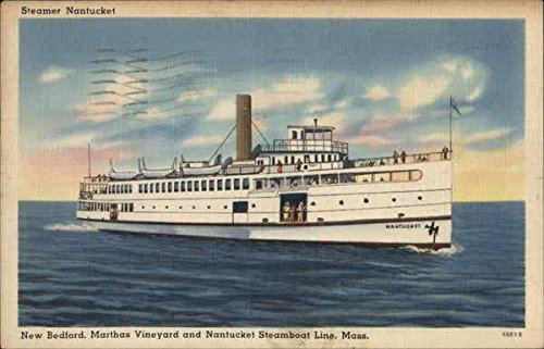 New Bedford, Marthas Vineyard and Nantucket Steamboat Line, Mass. Original Vintage Postcard ()
