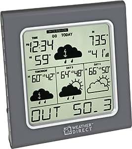 La Crosse Technology Weather Direct WD-3105U 4-Day Internet-Powered Wireless Forecaster, Titanium