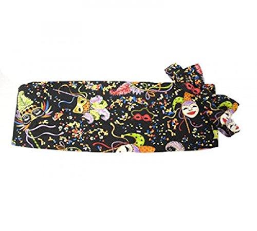 Mardi Gras Confetti Masks Cummerbund and Bow Tie ()