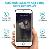 5000mAh Battery Case for iPhone X, Vproof Portable Charger Charging Case Rechargeable External Battery Pack Protective Cover for Apple iPhone x, iPhone 10(5.8 Inch) (Black)