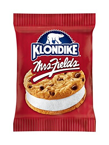 Klondike, MRS. FIELDS Chocolate Chip Cookie Ice Cream Sandwich, 7 oz. (12 count)