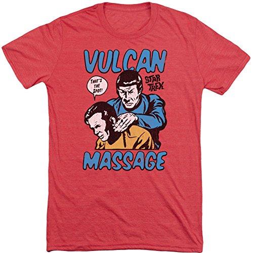 Star Trek Massage Mens Short Sleeve Shirt