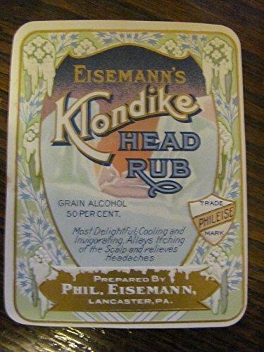 klondike-head-rub-quack-medicine-label-c-1900-mint