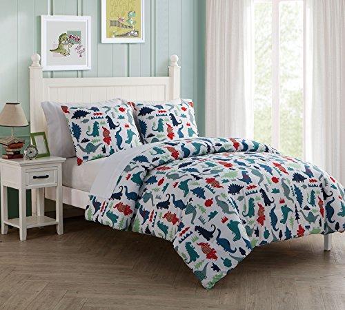 7 Pc, Dinosuar, Full Size Bedding, Comforter Set, By Karalai Bedding Collection (Dinosaur Bedding Full Size)