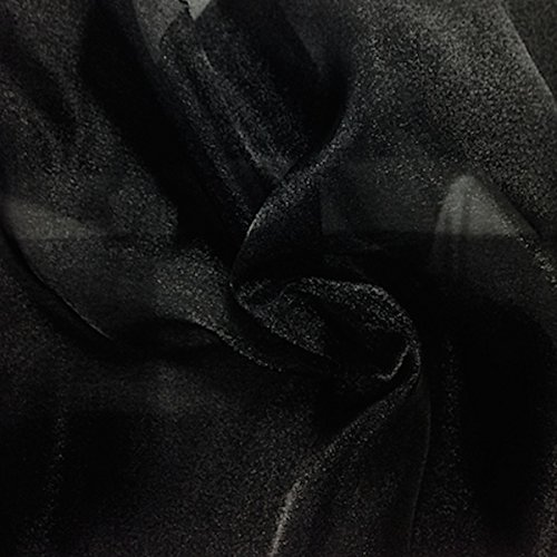 Sparkle Crystal Sheer Organza Fabric Shiny for Fashion, Crafts, Decorations 60 (Black, 1 YARD)