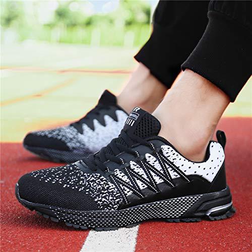 SOLLOMENSI Chaussures de Sport Running Basket Homme Femme Course Trail Entraînement Fitness Tennis Respirantes 3