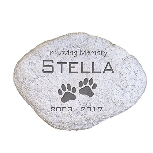 GiftsForYouNow Engraved Pet Memorial Garden Stone, 11'' W, Durable, Waterproof, Indoor/Outdoor by GiftsForYouNow