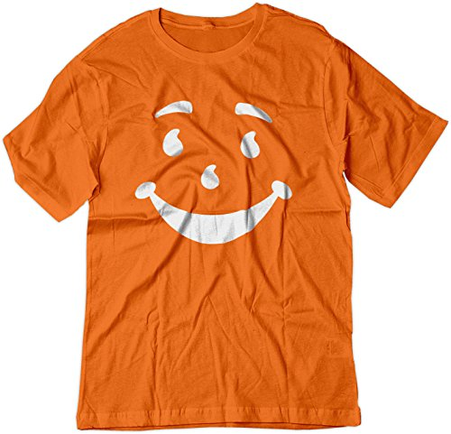 - BSW Men's Kool-Aid Man Smiley Face Oh Yeah! Juice Shirt MED Orange