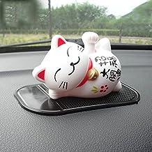 uzhopm Cute Lucky Cat Car Ornament Shake Hand Sleep Lazy Cat Car Interior Decorations Car Decor Home Decor