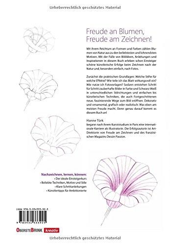 Die Zeichenschule Fur Blumenfreunde Amazon De Hanne Turk Bucher
