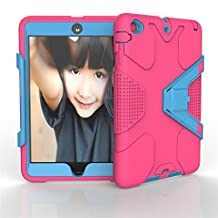 Case for iPad Mini 3, Maly's shop Shockproof Hybrid Case for iPad Mini 1 2 3 Hard Cover Pc+Silicone Full Body Protective High Impact Defender Cover For iPad Mini/ iPad Mini 2/ iPad Mini 3