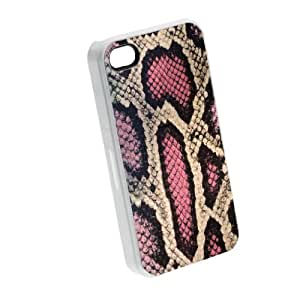 Pink Snake Skin Pattern - iPhone 5/5s Glossy White Case