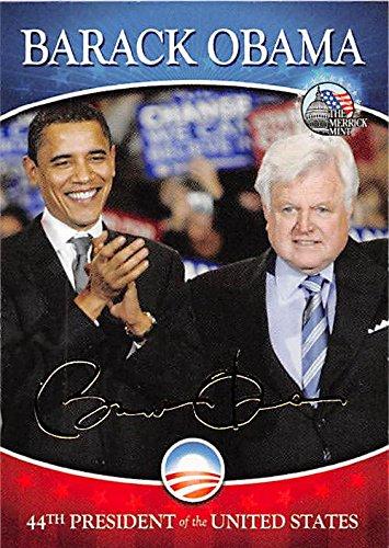 Barack Obama & Edward Kennedy trading card (44th President of the United States, Presidential Campaign) Merrick Mint #24 (Presidential Campaign Memorabilia)