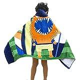 Premium Cotton Kids Hooded Towel Cute Cartoon Beach Pool Bath Towel for Girls Boys (color3)