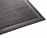 Guardian Clean Step Scraper Outdoor Floor Mat, Natural Rubber, 3'x10'', Black, Ideal for any outside entryway, Scrapes Shoes Clean of Dirt and Grime