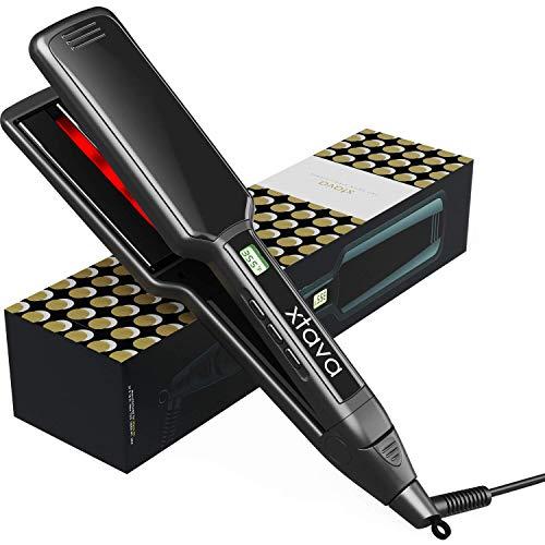 xtava Professional Infrared Hair Straightener - 2 Inch Ceramic Auto...