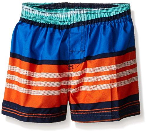 Kanu Surf Baby Boys' Halo Swim Trunk, Navy/Orange, 18 Months (Halo Suits For Kids)