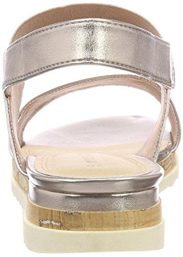 Mujer Rosa Tozzi de Metallic para Marco Abierto Rose Sandalias 28633 Talón q6pB06f8wx