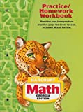 Harcourt Math Georgia Edition Practice/Homework Workbook, HARCOURT SCHOOL PUBLISHERS, 015349543X