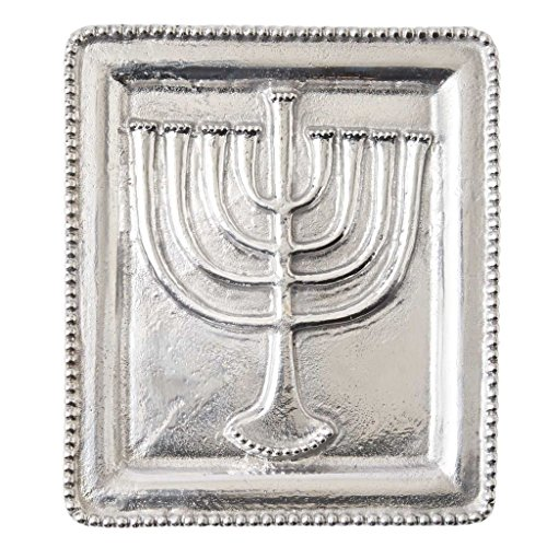 Mud Pie Hanukkah Menorah Serving Tray