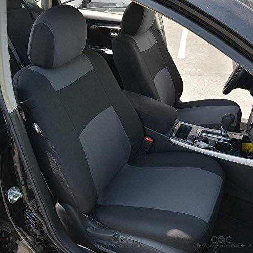 Charcoal Polyester Cloth Seat Covers For Car Suv