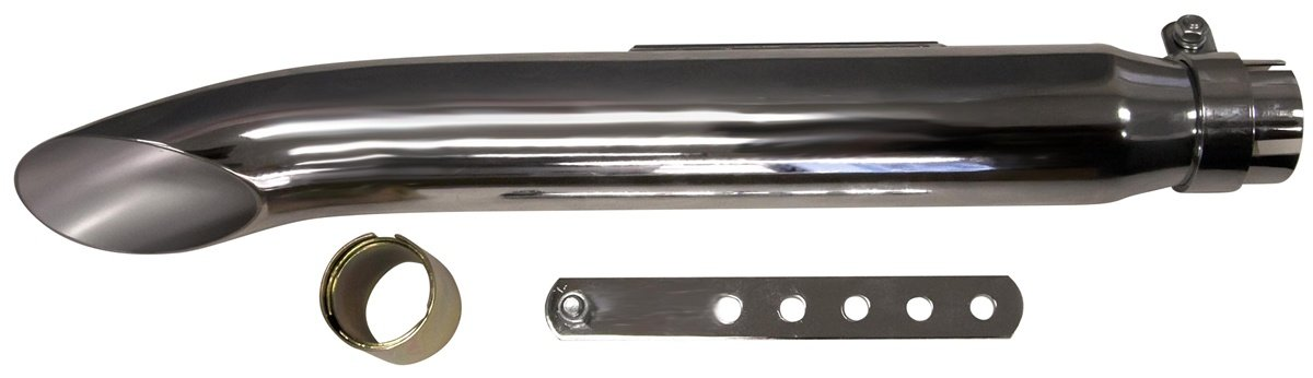 VooDoo Industries VC403 Chrome Universal Cafe Style Exhaust Pipe