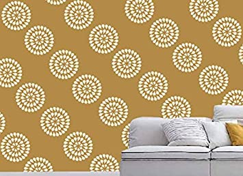 Gallerist Reusable Diy Wall Stencil Painting For Home Decor Doted Circle Design Stencil 1 Stencil Size 12x12 Inches Free 1 Drawing Stencil For
