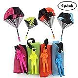 Parachute Toy,iDeep 4 Pieces Set Tangle Free