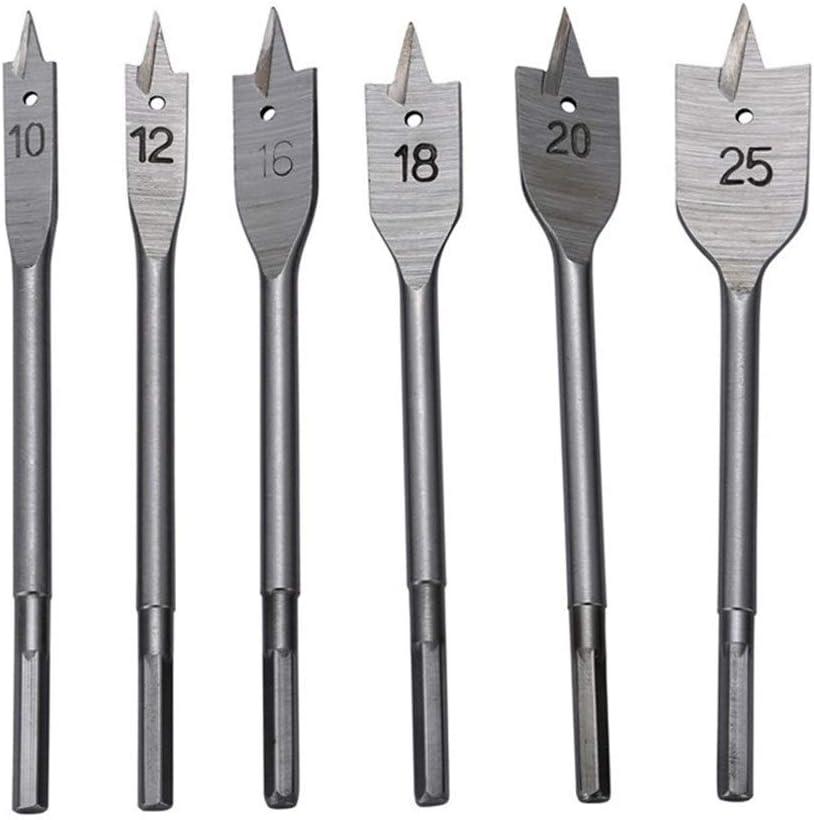 Basic Cellphone Cases CZMY 6pcs//lot Wood Drill Bit Set Flat Spade Paddle Flat Wood Boring Drill Bit Metric 10mm 12mm 16mm 18mm 20mm 25mm Wood Boring Drill Bits