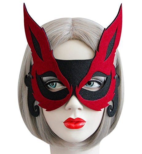 Sexy Halloween Party Mask Fox Animal Half Face Masks for Christmas Costume Masquerade Prom Ball Fancy Dress Party Favors Dress-Up Adults Children]()