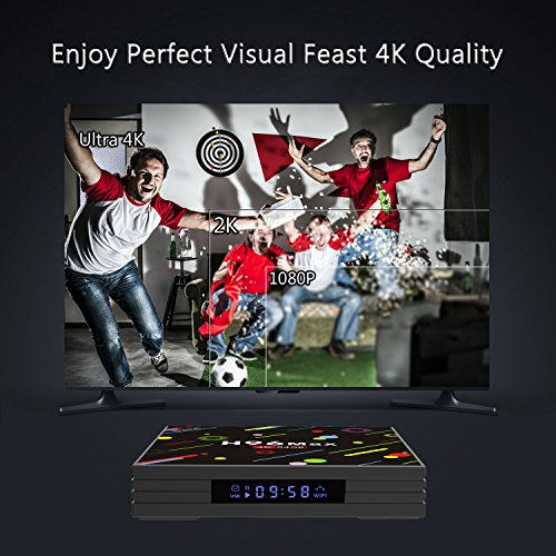 4K Smart TV Box 4G+64GB H96 Max Android 7.1 Display Screen RK3328 UHD Quad-Core WiFi Ultra HD H.265 Bluetooth