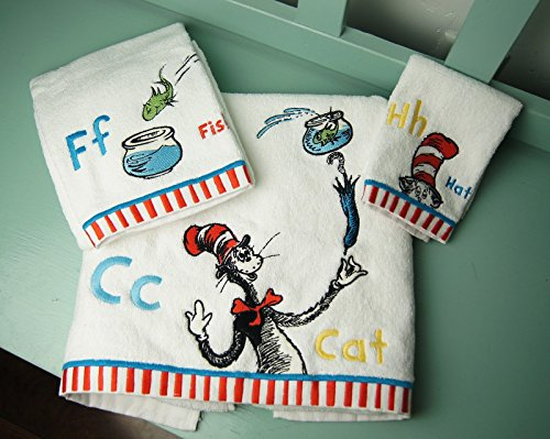 Amazon.com: Pottery Barn Kids, Dr. Seuss Bath Towels 3 Piece Set, The Cat  In The Hat: Health U0026 Personal Care