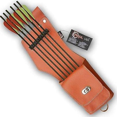 Carol Archery Side//Back Arrow Quiver with Zipper Pocket 151119 Khaki