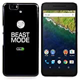 Beast Mode Exercise Rogan Black Text Designed Hard Plastic Protective Case King Case For Huawei Nexus 6P