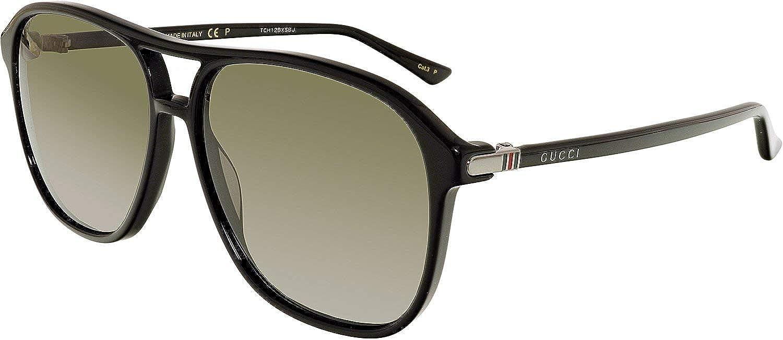 cc25d9203 Gucci Men's GG0016S 006 Sunglasses, Black/Grey, 58: Gucci: Amazon.co.uk:  Clothing