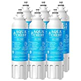 AQUACREST Refrigerator Water Filter, Compatible with LG LT800P, ADQ73613401, ADQ73613402, Kenmore 9490, 46-9490 (Pack of 6)