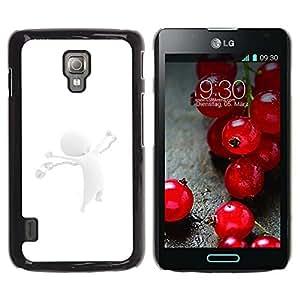 Be Good Phone Accessory // Dura Cáscara cubierta Protectora Caso Carcasa Funda de Protección para LG Optimus L7 II P710 / L7X P714 // White Abstract