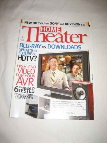 Home Theater V.15 #6 June 2008 Blu-Ray v. Downloads HDTVs Future Sony Nuvision (Nuvision Tv)