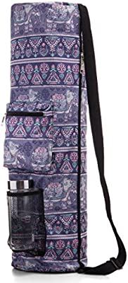 Heavy Duty /& Machine Washable Fits Most Yoga Mat Sizes Inner /& Outer Pockets Water Bottle Carrier RoryTory Yoga Mat Bag w//Adjustable Strap