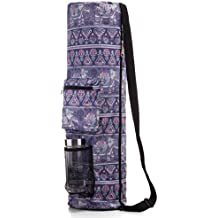 RoryTory Yoga Mat Bag w/ Adjustable Strap, Water Bottle Carrier, Inner & Outer Pockets, Heavy Duty & Machine Washable - Fits Most Yoga Mat Sizes (various colors)