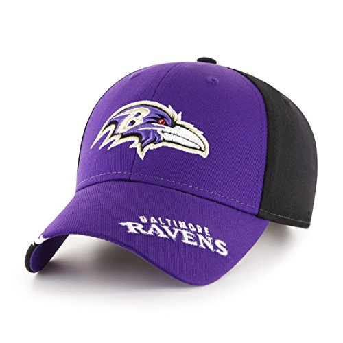 NFL Baltimore Ravens Children Rivet Ots All-Star MVP Adjustable Hat, Kids, Black]()