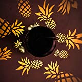 Ptwinners Hanging Solar Lights Outdoor Solar Lights with Decorative Lights Hollow Pineapple Lights Decoration Light for Party, Patio, Chirstmas, Garden, Home and Garden (Black)