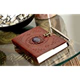 Anshika International Leather Journal Diary Book | Antique Hand Made Office Diary | Paper Notebook Diary with Metal Lock (Light Brown)