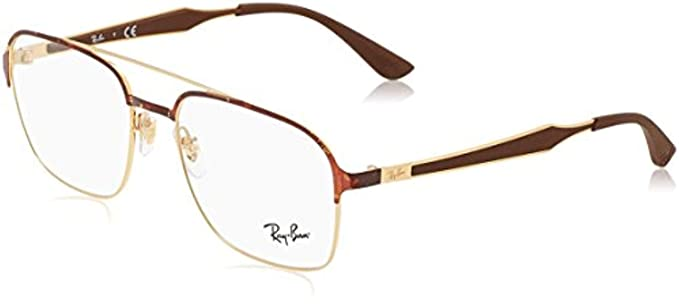6719fc5f5e Amazon.com  Ray-Ban Unisex RX6404 Eyeglasses Black Matte Balck 54mm ...