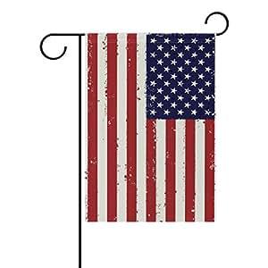 "ONEERA Vintage American Flag USA Flag Weatherproof Polyester House Flag 28"" x 40"" Seasonal Garden Banner"