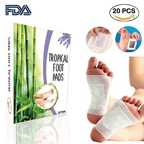 FOOT PADS | Remove Impurities , Relieve Stress | 100% Natural & Organic 20 Foot Pads | Sleep Better, Help Deep Sleep - Feel More Relaxed-Give Your Body Relief |FDA SERTIFIED